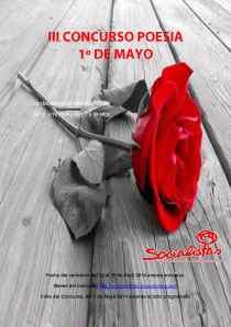 cartel CONCURSO POESIA 1º DE MAYO